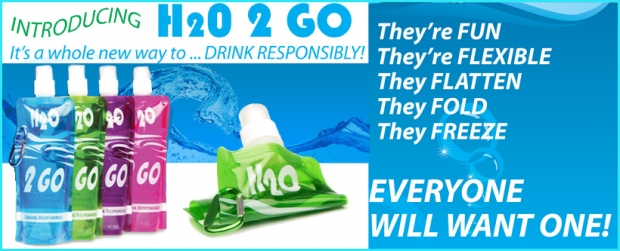 H2O 2 GO Bottle                         BPA and Phthalate Free!