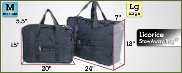 NEW! StowAway Classic Bag® - Licorice