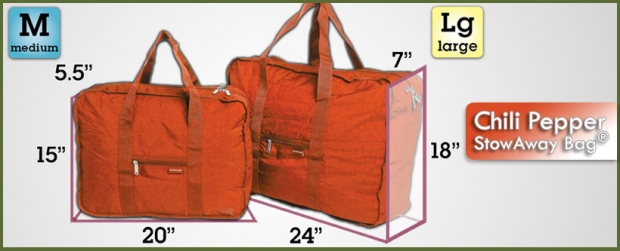 StowAway Classic Bag® - Chili Pepper