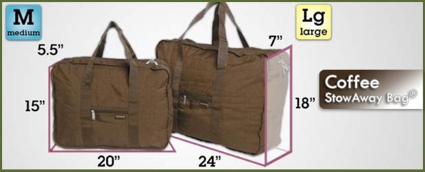 StowAway Classic Bag® - Coffee